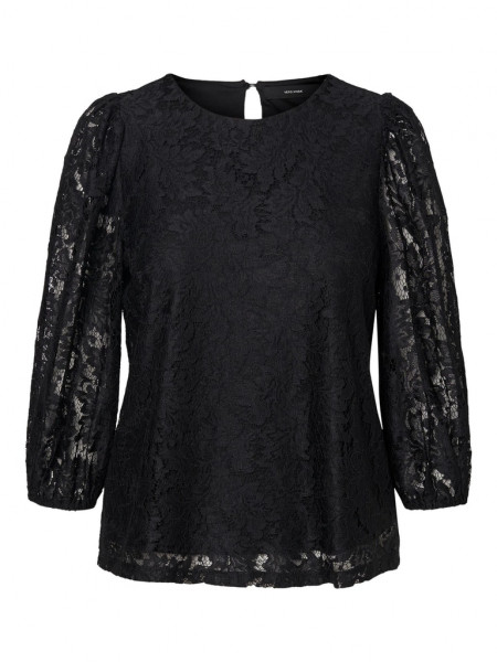 VMBONNA 3/4 LACE TOP WVN BF