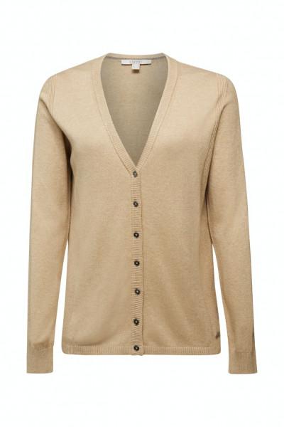 Basic V-Neck-Cardigan mit Bio-Baumwolle
