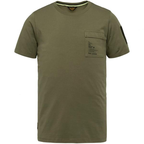 Short Sleeve R Neck Cotton Elastan