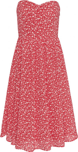 TJW FLORAL BANDEAU DRESS
