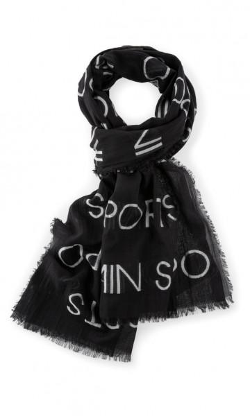 Logo-Schal aus Baumwollmix