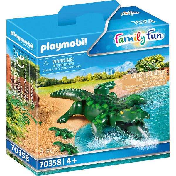 70358 Alligator mit Babys