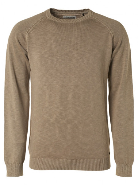 Pullover Crewneck Garment dyed with Linen