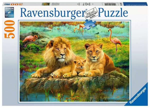 Puzzle Löwen in der Savanne