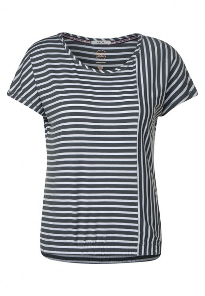 T-Shirt mit Streifenmix