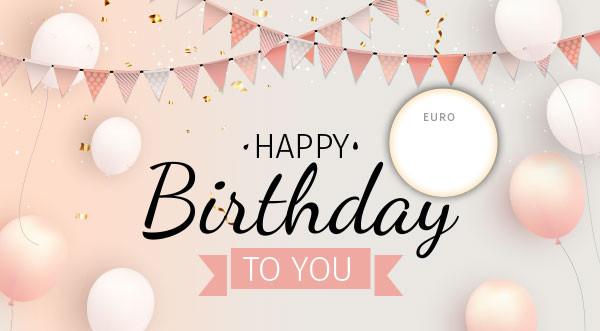 """Gutschein """"Happy Birthday rosa"""""""