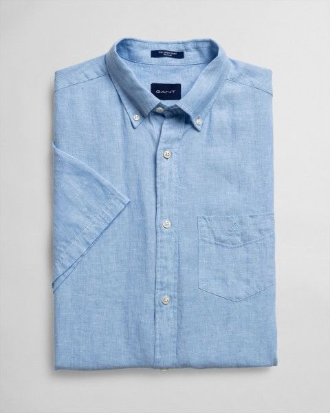 Kurzarm Leinen Hemd