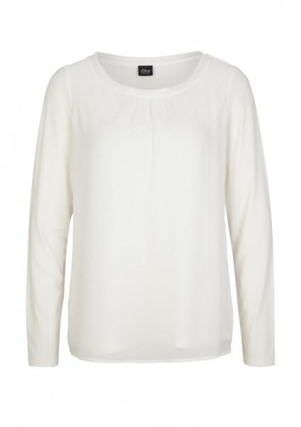 Chiffon/Jersey-Langarmshirt