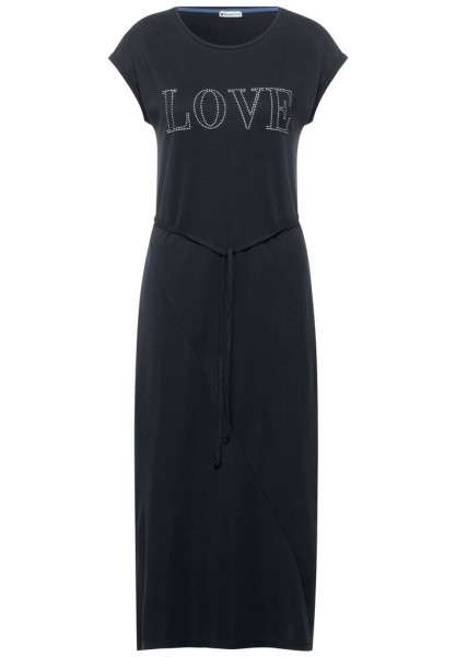Midi Kleid mit Partprint
