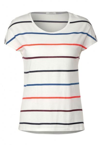 T-Shirt mit bunten Streifen