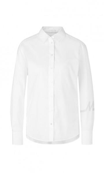 Weite Bluse mit Jersey-Rückteil