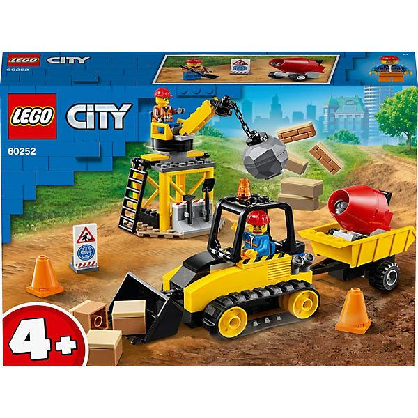 City 60252 Bagger auf der Baustelle