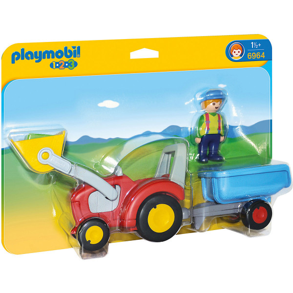 6964 1-2-3: Traktor mit Anhänger