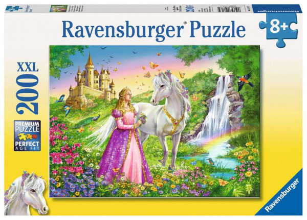 Puzzle Prinzessin mit Pferd
