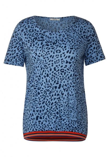 T-Shirt mit Leomuster