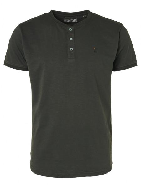 Slub Granddad Collar T-Shirt