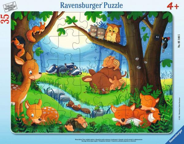Puzzle Wenn kleine Tiere schlafen gehen