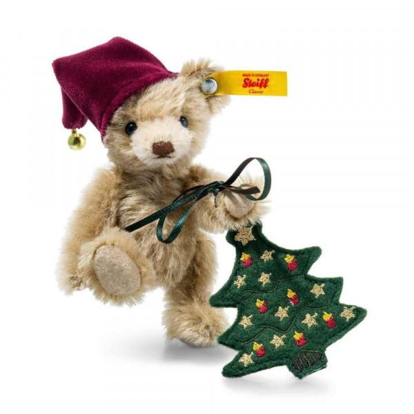 Teddybär Nic mit Christbaum