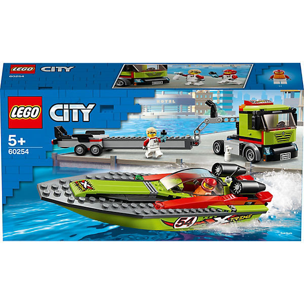 City 60254 Rennboot-Transporter