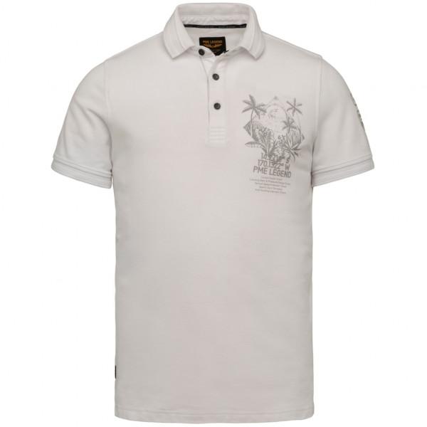 Short Sleeve Polo Hexagon Pique Ga