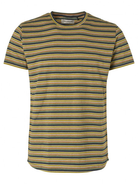 Multi-color stripe crewneck T-Shirt