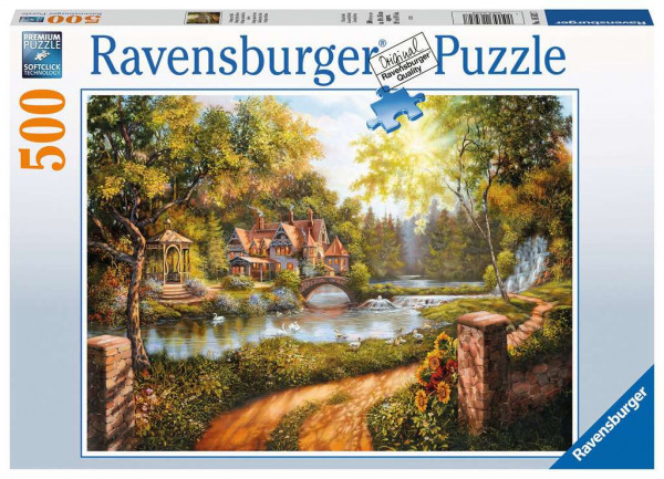 Puzzle Cottage am Fluss