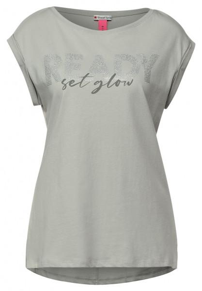 T-Shirt mit Wording Print