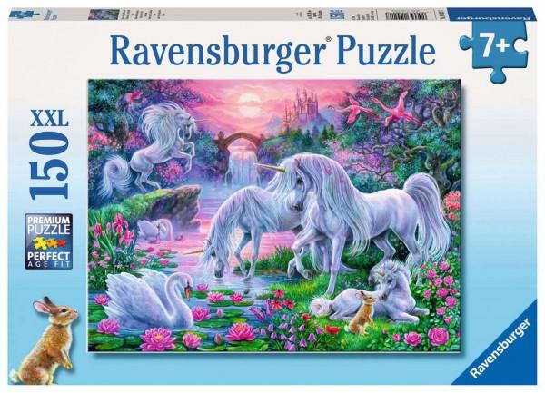 Puzzle Einhörner im Abendrot