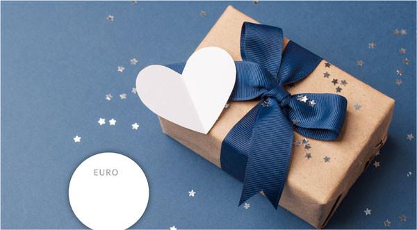 """Gutschein """"Blaues Geschenk"""""""