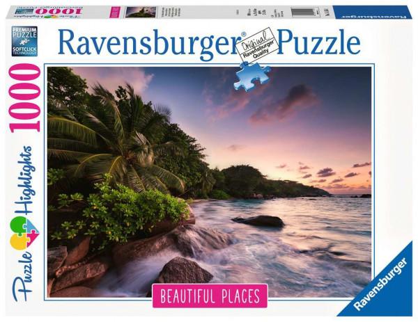 Puzzle Insel Praslin auf den Seychellen